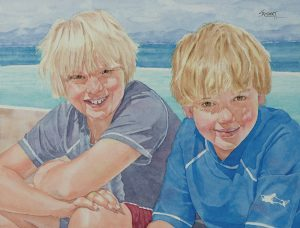Evan and Ryan | 11 x 14 inches | SOLD
