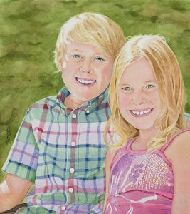 Isaac and Lily | 13 x 12 inches | SOLD