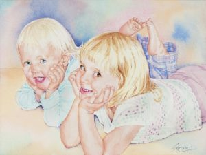 Izzy and Emma | 11 x 14 inches | SOLD