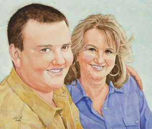 Kathy and Mike | 12 x 14 inches | SOLD