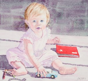 Another Painting of McKenna | 14 x 19 inches | SOLD