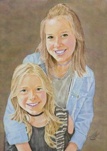 Sara and Sofie | 13 x 19 inches | Sold